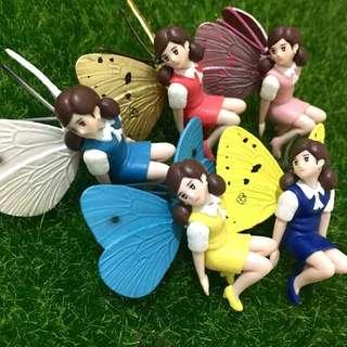 四代 蝴蝶杯緣子 景品黃色 深藍 淺藍 新色 粉色 扭蛋 杯緣子 盒玩