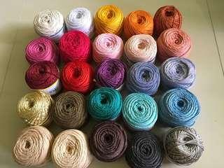 POLYESTER GLITTER yarn