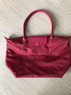 Longchamp Raspberry Shoulder Bag