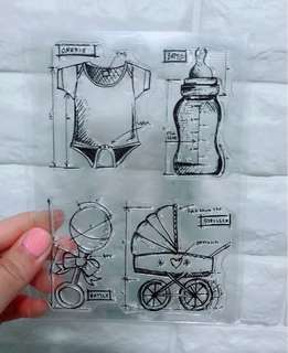 🌸  [$1 SALE] Baby Infant Trolly Milk bottle Stamp set