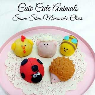 Cute Cute Animals Snow Skin Mooncake Class