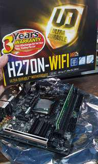 Intel G4560 Gigabyte H270N Kingston 8GB DDR4 Ram