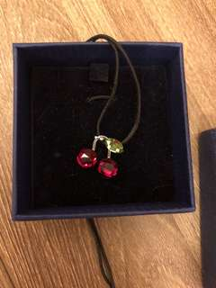 Swarovski cherry pendant necklace