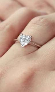 GIA Heart Shape Diamond ring D.50