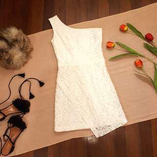 Sinequanone One Shoulder Overlap Dress