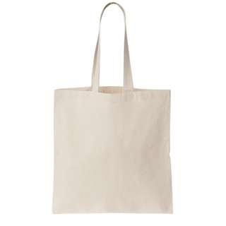 Fabric tote bag (white/black)