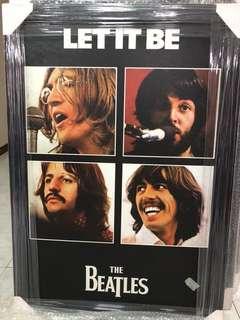 Beatles Poster c/w frame (original print/ glossy paper)