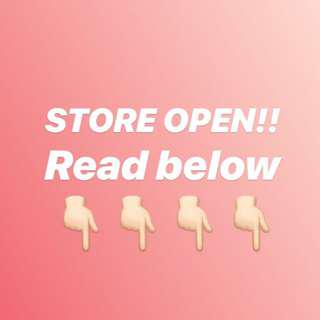STORE OPEN!