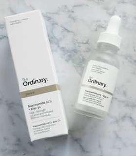 DECIEM The Ordinary Niacinamide 10% + Zinc 1% - full size - New