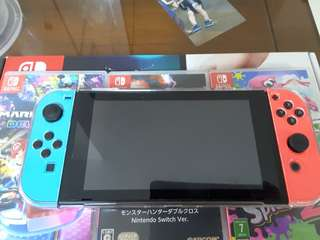 [Local] Nintendo Switch Neon with 14 games