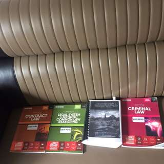 A LEVELS, YEAR 1, YEAR 2, YEAR 3 LAW BOOKS UOL / UKT