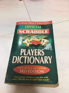 Scrabble player dictionary