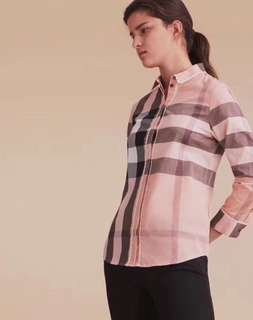Burberry shirt in pink or brown