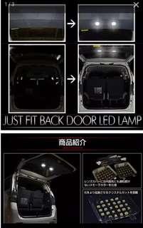 20系alphard 車尾內門板led燈