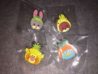 香港迪士尼 徽章 Disney Pin Game Pin Judy Nick Zootopia Tigger Perry