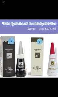 Fake eyelashes glue white and black