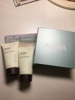 AHAVA Deadsea Water Mineral Hand Cream & Deadsea Water Mineral Body Lotion