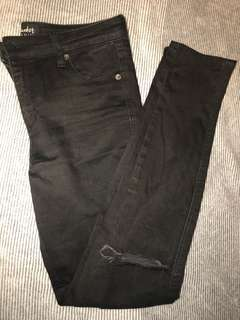 Bardot black jeans with rips