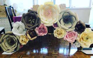 Paper flowers decor