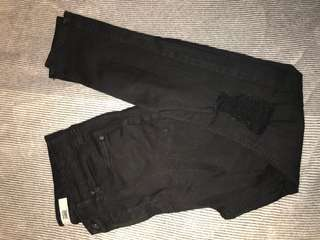Topshop Black Jamie jeans with rips