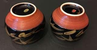 80年代日本手繪茶杯2只