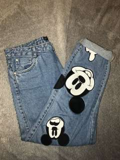 Zara Mickey Mouse Mom Jeans
