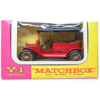 "Lesney's Matchbox Y-1 1911 Model ""T"" Ford (Models of Yesteryear Series)  * Original Super Vintage (54 years old) Set - Released in 1964 * Excellent Condition by Vintage Standards  (Diecast Vintage Car Collectible)"