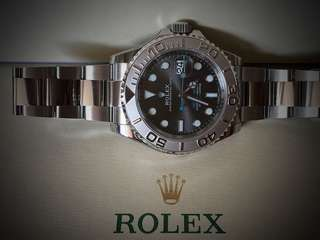 💯% New Rolex 116622 Yachtmaster SS/Platinum with Rhodium Dial