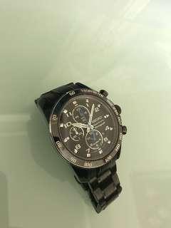 精工黑鋼錶