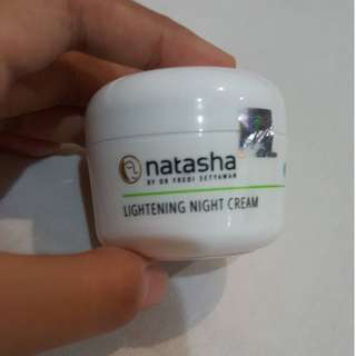 Natasha Lightening Night Cream Dr. Fredi Setyawan 10 gram