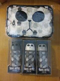 旅行用膠樽連化妝袋