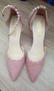 Jual rugi sepatu import!!  Sepatu syantik merah muda
