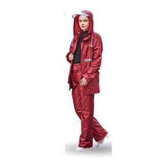 🚚 時尚率性棗紅色兩件式雨衣