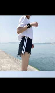 Ulzzang Rings Black Denim Shorts