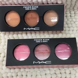 mac trio blush