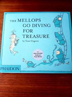 🐷NEW🐷 The Mellops Go Diving For Treasure by Tomi Ungerer (Hardback)