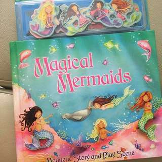 Magical Mermaids ~ Magnetic Story and Play Scene Hardcover/page Book 🧜‍♀️50% off!🧜‍♀️