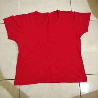 Kaos simple merah