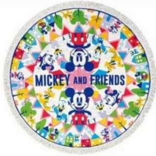(包郵)Disney Mickey and his friends round towel 米奇老鼠特大圖形毛巾
