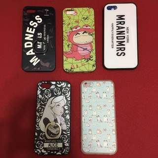 Ip5/5s phone case 全部都係軟殻 $40/all