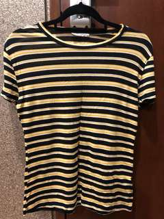 Zara yellow striped top
