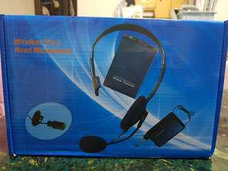 Wireless tie & head microphone