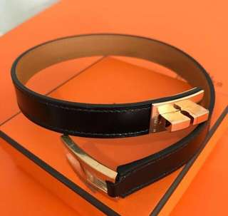 Hermes Leather Bracelet 皮革手帶- Drag double tour