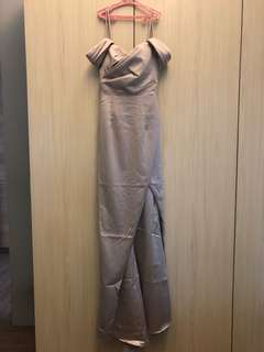 Silver Formal Long Gown (BRAND NEW)