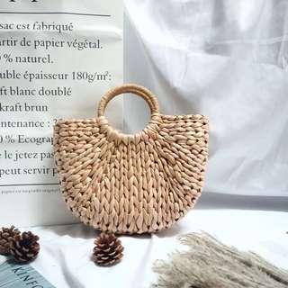 🚚 手拎造型編織草包