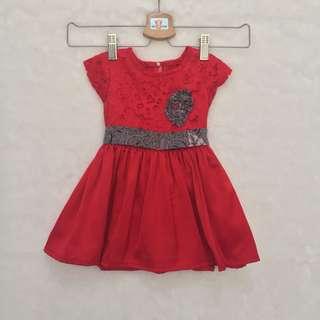 Dress Renda Batik Baby Girl (Jahit)