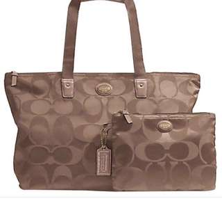Original Coach Foldable Tote