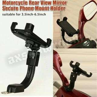 Motorcycle Secure Grip Lock Adjustable Flexible Arm Phone Mount