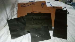 名牌紙袋 LV + GUCCI paper bag set -6pcs-