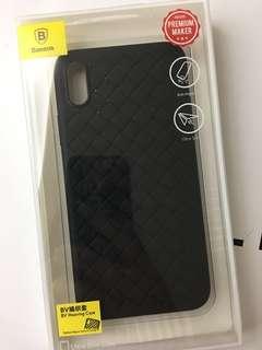 iPhone X Case黑色 BV編織紋